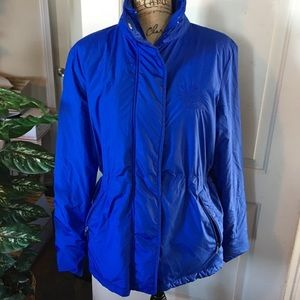 Ralph Lauren Blue Thin Puffer Jacket Sz L